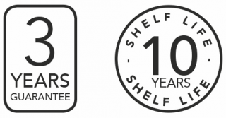 3 Years Guarantee & 10 Years Shelf Life